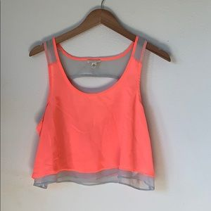 Urban Outfitters Silence + Noise Neon Crop Tank